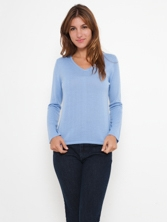 PULL V CERFEUIL 7 coloris